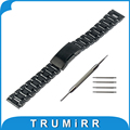 22mm Stainless Steel Watch Band Bracelet Strap for Samsung Galaxy Gear 2 R380 Neo R381 Live R382 Moto 360 2 Gen 46mm Pebble Time