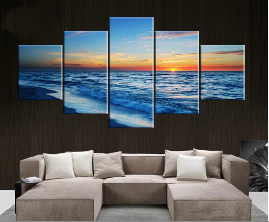 5 piecesl painting home decorative art picture canvas prints unframed gift wall art large hd a - Cheap Canvas Wall Art