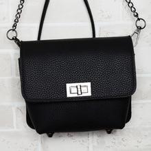 2016 contracted fashion female BaoChao litchi grain lock chain little bags mini single shoulder his bread