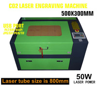 50W CO2 USB Laser Engraving Cutting Machine 500x300mm Engraver Cutter Wood working Crafts Printer Cutter