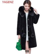 Haut de gamme de personnalisation Grande taille Femmes vêtements D hiver  manteau De Fourrure NEW100 % Imitation laine d agneau À.. bded9fcb046