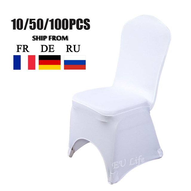 Super Deal 2017 New Polyester Spandex Elastic Lycra Chair Cover for Weddings Banquet Hotel Event Party