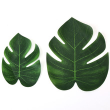Yooap 5pcs Simulation Hawaiian Turtle Leaf Frame Accessories Table Place Wedding Party Photo Props Supplies