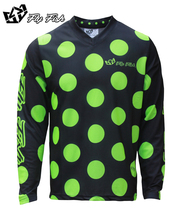 FLY FISH Racing GP Mens GP Air Polka Dot Jersey Flo Yellow MX ATV Off Road Mountain Bike moto Jersey DH BMX motocross jersey