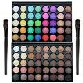 Alta Qualidade Profissional 40 Cores Cosméticos Matte Shimmer Eyeshadow Destaque Paleta com 1 peça Pincel de Maquiagem Dos Olhos FE #8