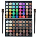 High Quality Professional 40 Colors Cosmetic Matte Shimmer Eyeshadow Highlight Palette with 1piece Eye Makeup Brush FE#8