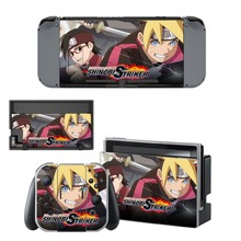 Anime Naruto Decal Vinyl Skin Sticker for Nintendo Switch NS Console + Joy-Con Controller + Dock Station