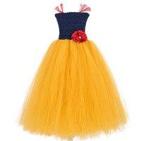 Handmade Księżniczka królewna Śnieżka Cosplay Tutu Sukienka Dziewczyny Tutu Sukienka Czerwony Kwiat Dziewczyny Birthday Party Dress Księżniczka Halloween Costume