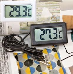 10 PCS termômetro Digital medidor de temperatura Tester medidor eletrônico Medidor de Instrumentos com 1 M sonda Aquário de Água Geladeira