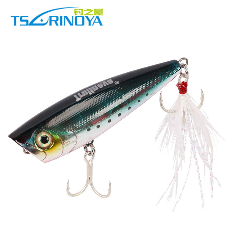 Trulinoya Popper 60mm 7g Hard Fishing Lures Multicolor Water Surface Swimbait Shiny Pesca Leurre Peche Fishing Tackle image