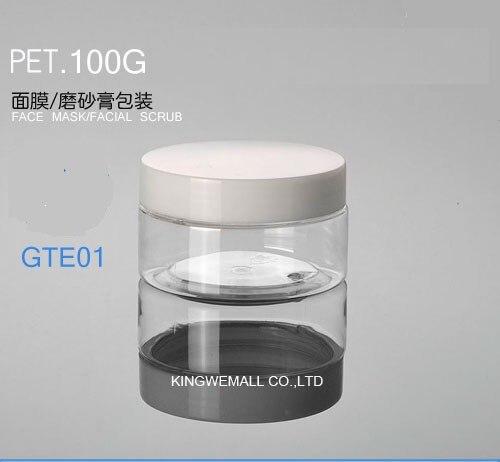 300 шт/партия 100 г банка для крема, бутылка для крема, косметическая банка, пластиковая банка, косметический контейнер, косметическая упаковка