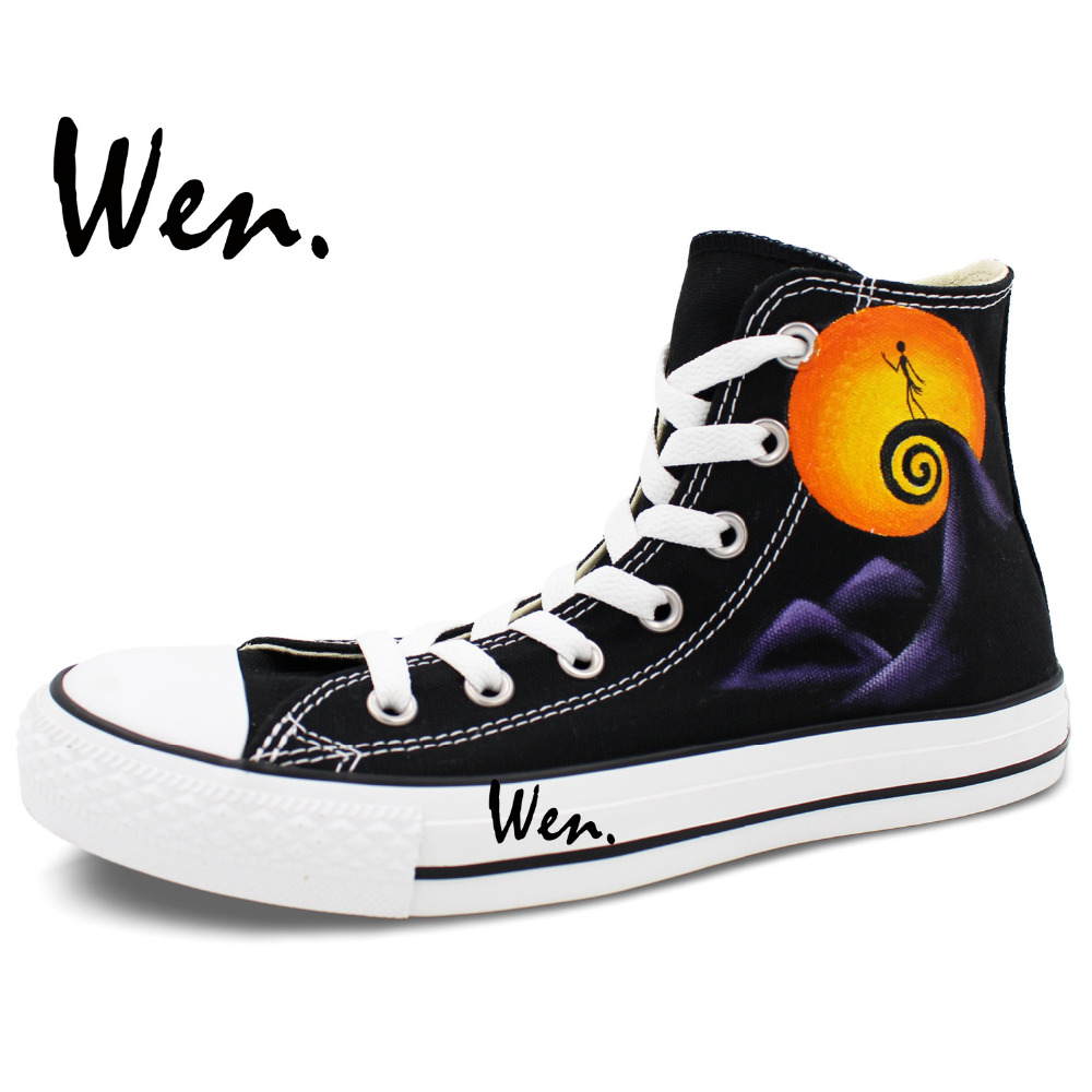 Wen Hand Painted Shoes Custom Design Nightmare Before Christmas Jack ...