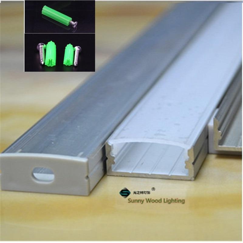 10PCS من 1M الألومنيوم الشخصي مسطح لصف - إضاءة LED