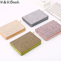 2017 New Business Zipper Linen A6 Notebooks Writing Pad Portable Diary Office School Supplies Notepad Stationery