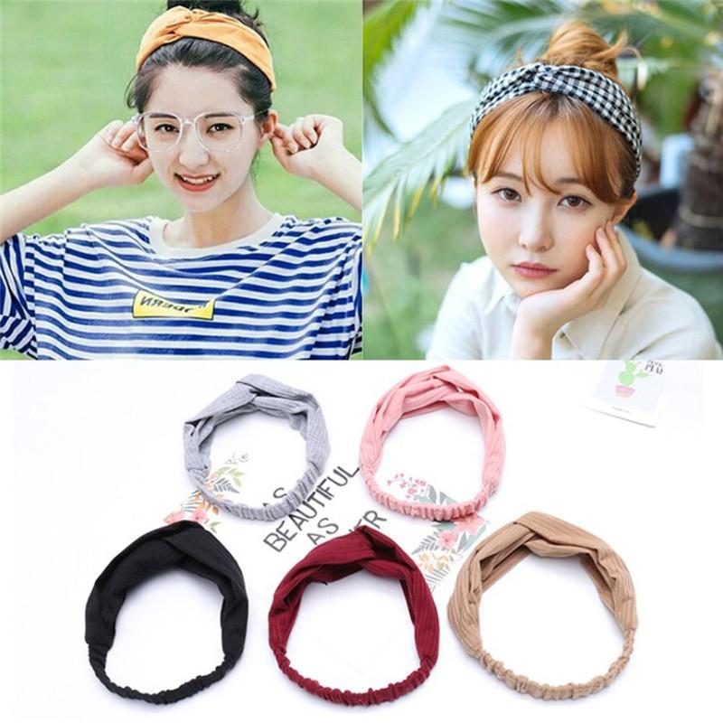 1pcs Women Flower Hair Band Twisted Knotted Head Wrap Turban Head Wrap Headband Headwear