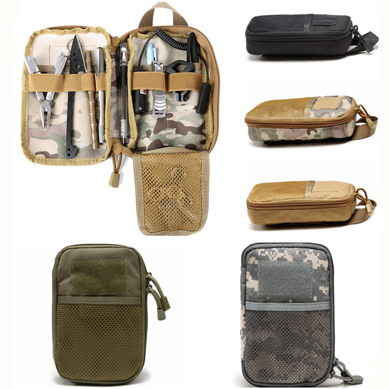 CQC Outdoor Tactical Waist Pouch Molle Military Army Accessories EDC Tool Pouches Camping Hiking Hunting Storage Bag