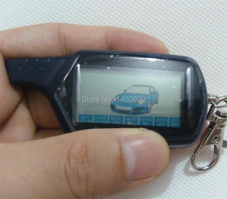 Freeshipping B6 2-wege LCD Fernbedienung Schlüsselanhänger Kette Für russische Fahrzeug Sicherheit Zweiwegautowarnungssystem System Twage Starline B6