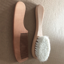 Newborn Baby Natural Wool Baby Wooden Brush Comb Newborn Hair Brush Infant Head Massager Portable Baby Comb Hair Bath Brush Comb недорого