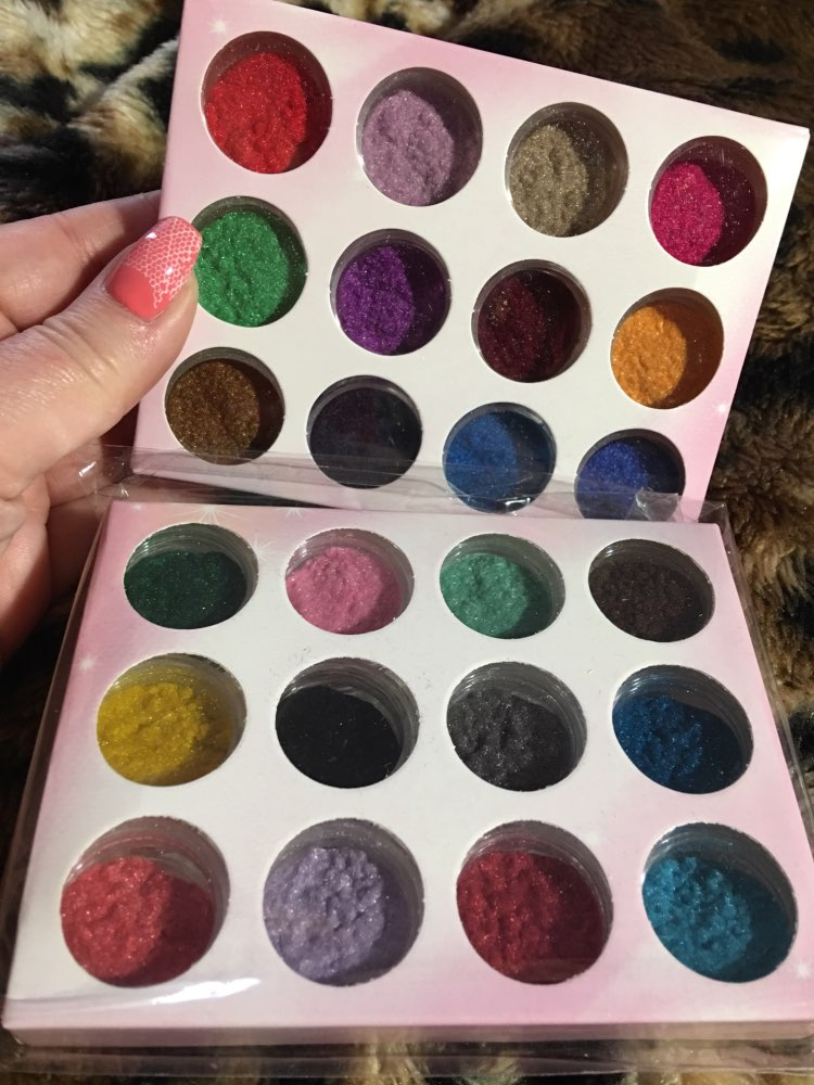 PLB11 Terciopelo Flocado Polvo de Uñas de Terciopelo 24 Colores / - Arte de uñas - foto 5