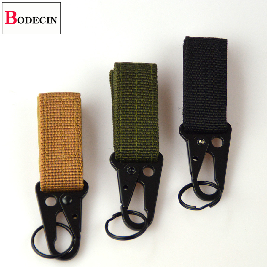 Outdoor Tools EDC Gear Camping Tactical Nylon Belt Clip Keychain Snap Hooks Bushcraft Molle Webbing Buckle Carabiner For Keys (4)