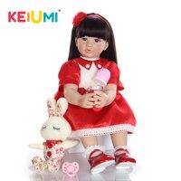 KEIUMI 24 cm Silicone Vinyl Reborn Menina Boneca Realistic Princess Babies Doll Reborn Ethnic Toddler For kids Children's Gifts