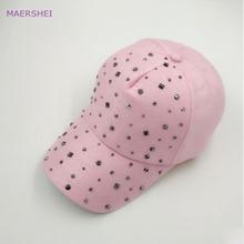 f464a6be8b0 MAERSHEI summer bright diamond baseball cap women s mercerized cotton  sanpback solid diamond rhinestone cap fashion casual