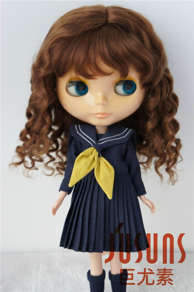 JD162 Pretty Long mohair BJD wigs size 10-11inch fashion princess curly doll hair Large size doll accessories fashion long curly hair wigs gold black