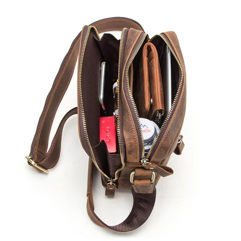 CONTACT'S 2019 new genuine leather men's messenger bag vintage shoulder bags for 7.9 3