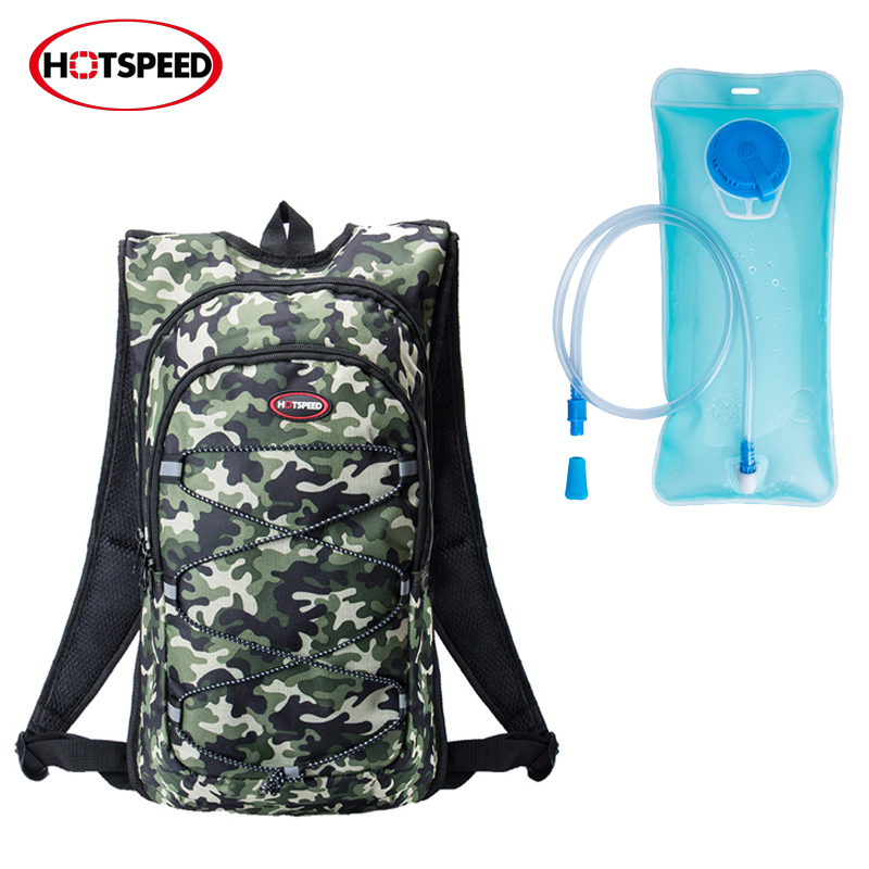 Hotspeed 2017 New Riding Backpack with 2L Bladder hydratation camelback Outdoor Sports Bicycle Camping Hiking Climbing Water Bag