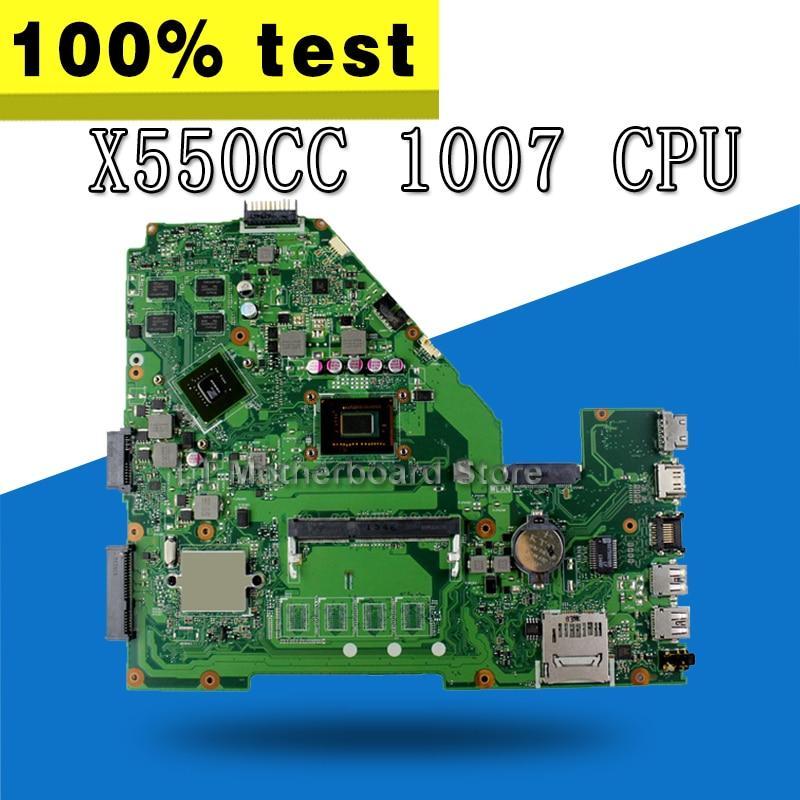 X550CC Motherboard 1007U CPU For ASUS X550CC R510C R510CC Laptop motherboard X550CC Mainboard X550CC Motherboard test 100% OK цена