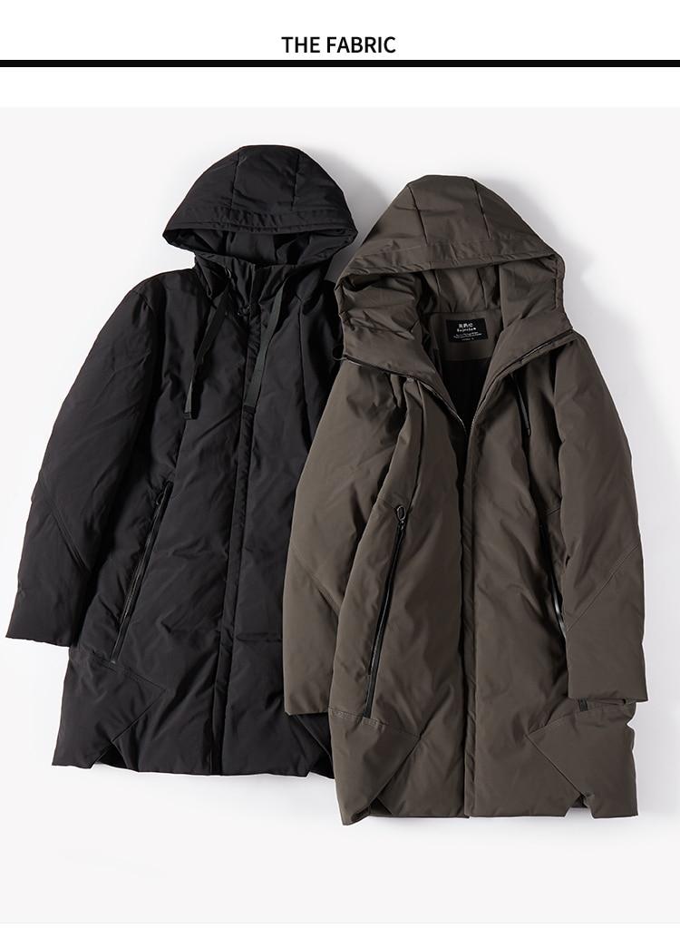 Enjeolon Brand Winter Jacket Men Long Parka Jacket Thick Hat Parka Coat Men Quilted Winter Jacket Coat Clothes MF0060 5