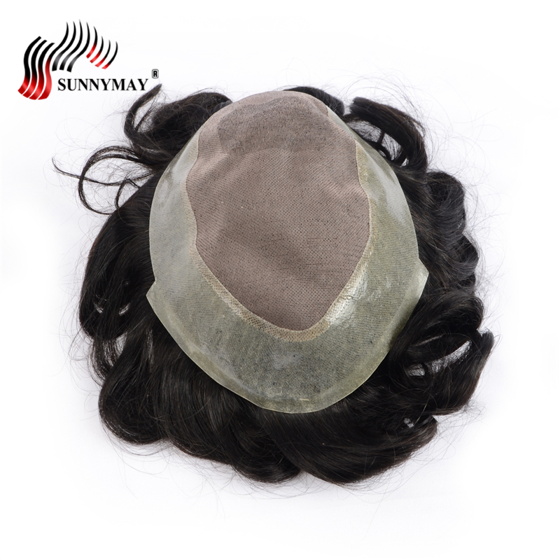 Brazilian hair Afro men toupee , hair repalacement , Human hair toupee ,fine mono with skin base free shipping ...