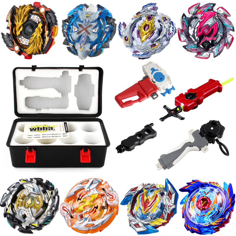 8pcs/set Metal Beyblade Bayblade Burst Toys Arena Sale bey blade Gyroscope Emitter Hobbies Spinning Top For Children Bey blade