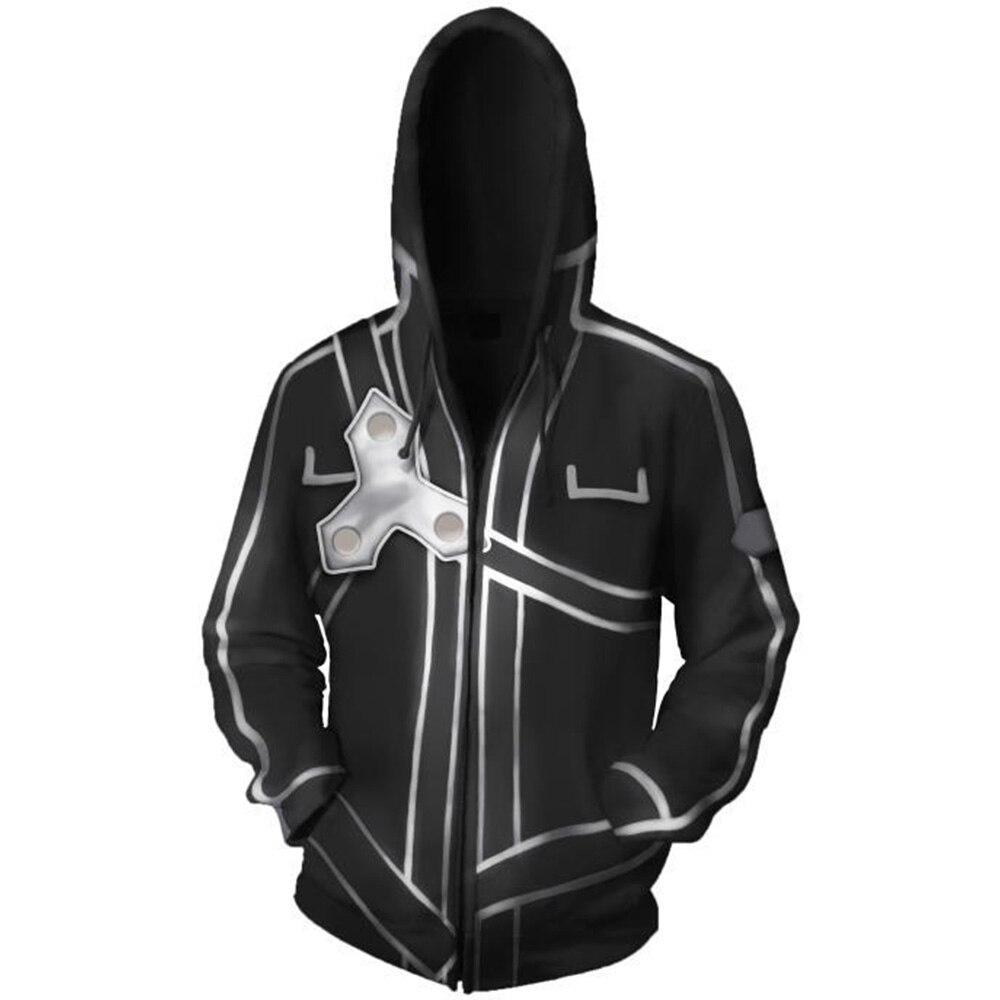 NEW Anime Sword Art Online SAO Hoodie Cotton Hooded Jacket Sweater Men/'s Hoodies