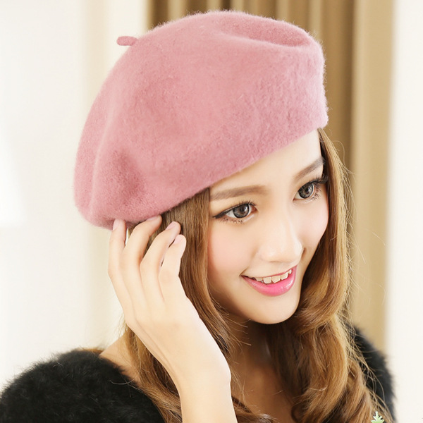 Winter wool BERET HAT female warm winter autumn Korean ...