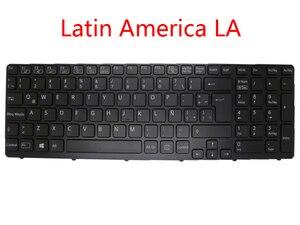 Ноутбук с подсветкой GR LA SE RU TW GK клавиатура для SONY для VAIO SVE15 Латинская Америка немецкая швейцарская Россия китайская Греция 149076711LA