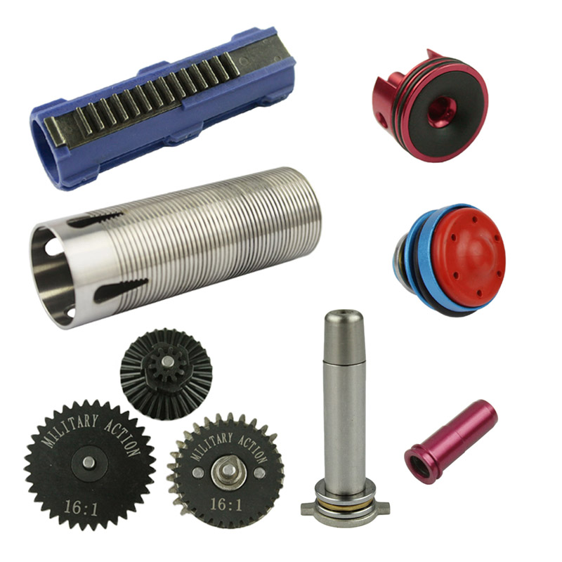 Hunting Gun Accessories Hunting 16:1 High Speed Gear Set /piston/piston Head/cylinder/cylinder Head/spring Guide /nozzle For M4/ak/g36/mp5 Airsoft Aeg We Take Customers As Our Gods