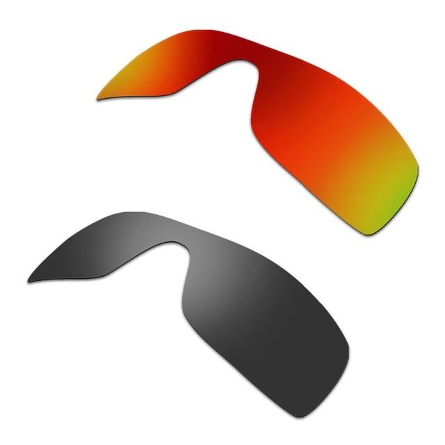 9f698877e5 HKUCO For Batwolf Sunglasses Mens Polarized Replacement Lenses Red   Black  2 Pairs 100% UVA