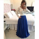 conew_2016 hot slae evening dresses fashion new arabic lace long sleeves v neck beading sash formal prom party dresses evening wear custom made_conew1