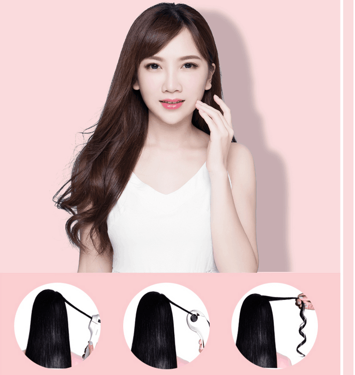 220V Automatic Hair Waver Curler Mini High Quality Ceramic Intelligent LCD Electric Hair Curling Maker Tool Anti Scald high quality ptc heating lcd hair curler white color professional salon spray automatic hair rotating curler home use