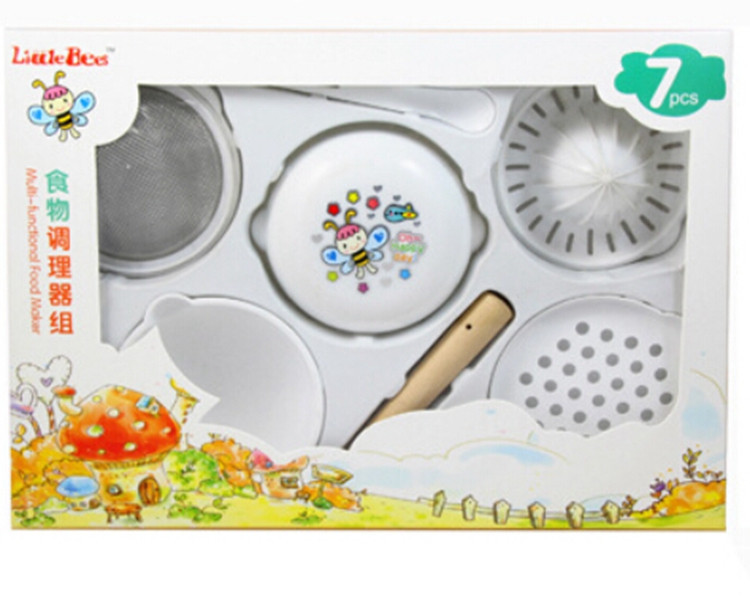 7PCS Manual Food Processor Baby Food Mills Grinder Supplies Multifunction Baby Set For Food Infant Juice Food Press Machine (9)