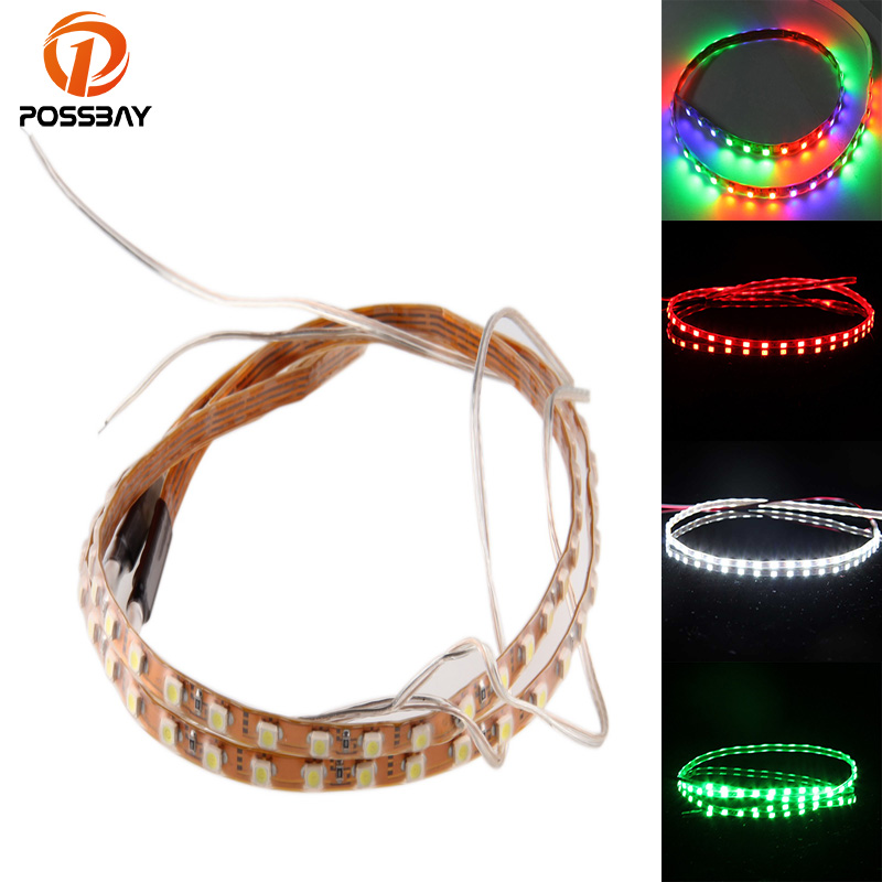 POSSBAY Car 45CM 90CM SMD 1210 45 90 LED Flexible Strip Light font b Lamp b