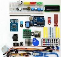 Hot Sale RFID Super Starter Kit For Arduino UNO R3 Upgraded Version Learning Suite LCD 1602 Servo Motor Relay With Retail Box