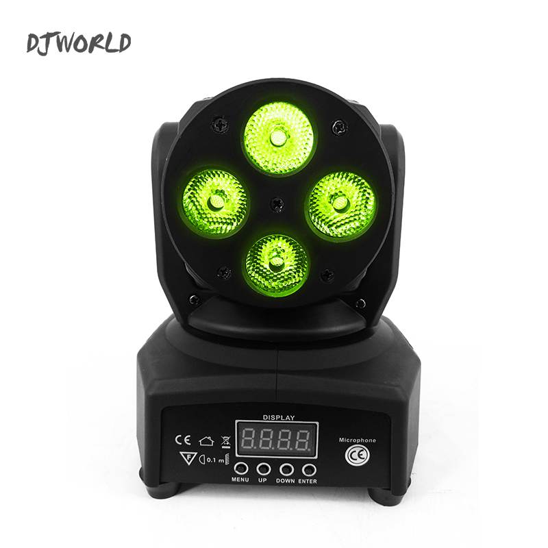 Hot Sell LED 4x10W Moving Head Light RGBW 4in1 DMX512 mini Wash Light Stage Lighting Effect Novelties Stroboscope for clubs