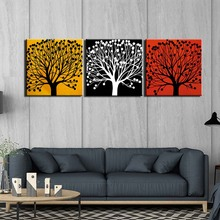 HD Prints 3 Panels Pictures Canvas Abstract tree Painting Wall Art For Living Room Home Decoration