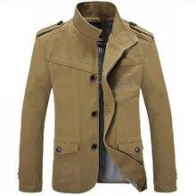 Hot Sale 2015 Autumn Winter Men's Jackets New Fashion Casual Jacket Men Cotton Slim Brand Jackets Coats Size M-3XL