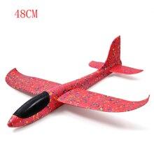 Dla dzieci samolot szybowiec 48 CM pianki samolot ręcznie rzut latające szybowiec samolot kolorowe samolot sportowe na świeżym powietrzu z pianki fajne zabawki TY0373