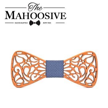 Mahoosive mężczyźni krawaty projektanci mody drewniane Gravata krawat Hanky zestawy jedwabne krawaty krawaty dla mężczyzn firm Wedding Party tanie i dobre opinie 1953 Muszka WOMEN Dziewczyny Chłopcy Jeden rozmiar Poliester COTTON SILK Moda Floral Dla dorosłych
