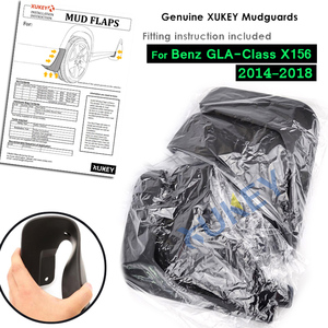 Image 5 - סט צורניים דשים עבור בנץ GLA180 GLA 220 GLA 200 GLA250 X156 2014 2015 2016 2017 משמרות Splash Mudflaps מגני בץ קדמי אחורי