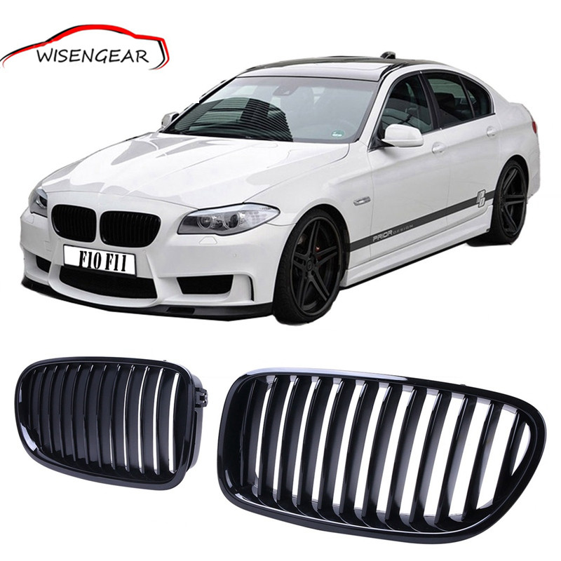 ФОТО 1set New Model Gloss Black Kidney Grills Front Grille For BMW 5 Series F10 Sedan F11 Touring 2011 2012 2013 2014 2015 2016 C/5